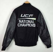 Vintage UCF Chevaliers champions nationaux Usa Varsity Cuir Veste M/L