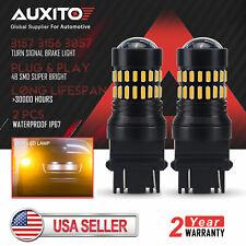 AUXITO 3157 4157 4057 LED Amber Yellow Turn Signal Blinker Corner Light bulb 2PC