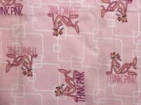 """Pink Panther Think Pink Polka Dots Kids Nurses Quilt MASK Fabric 18"""" x 22"""" ~ FQ"""