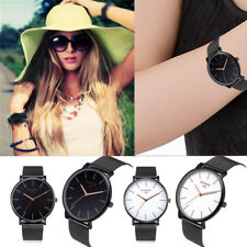 Classic Women's Men's Wrist Watch Simple Casual Dress Steel Strap Quartz Watches