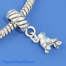 CLASSIC ROLLER SKATE .925 Solid Sterling Silver EUROPEAN EURO Dangle Bead Charm