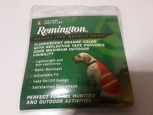 Remington Reflective Safety Vest for Dogs Orange Large For Dogs Over 50 lbs New