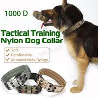 L 1000D Nylon Tactique Militaire Clôture Collier de Dressage Chien Avec Boucle