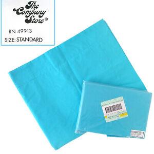 The Company Store 2 Capri Blue Standard Euro Sham Pillowcases 100% cotton 31x26
