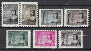 Ecuador - Mail 1954 Yvert 578/79 + Air 253/57 MH Fifth Centenary Isabel La