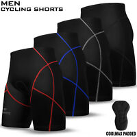 Mens Cycling Cycle Shorts Coolmax Anti-Bac Padded MTB Bicyle Short M to 2XL