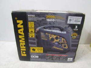 Firman Recoil Start Gas Portable Generator Black W01682