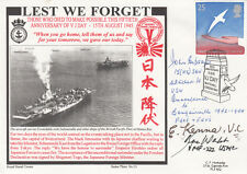 50TH Anniv of VJ Day Lest We Forget Signed by 3 all involved.