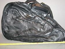 LOT OF 11 EURO DESIGN BEAUTIFUL BLACK LEATHER CARRY ON BAG TOTE BACK PACK