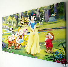 DISNEY PRINCESSES SNOW WHITE CANVAS WALL  ART  PICTURE  18 X 32 INCH