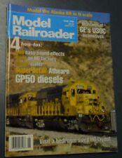 MODEL RAILROADER MAGAZINE JUN 1996 DRAWINGS GE'S U30C LOCOMOTIVE GP50 DIESELS