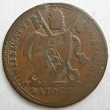 VATICAN (PAPAL STATES) 1802 COPPER ONE BAIOCCO COIN (KM# 1267)