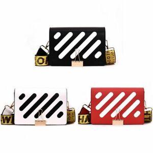Premium Leather Black&White Inspired Handbag Shoulder messenger Diagonal Womens