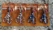 """Fiskars Pointed Tip Safety Edge Blades 5"""" Lot Of 4. Planets And Narwhals"""