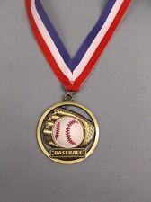 rubber Baseball gold medal with Rwb neck drape trophy award