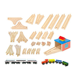 Wooden Train Set Accessories 33pc - Compatible with Brio & Thomas - FREE POSTAGE