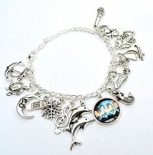 Mako Mermaid H20 charm bracelet. H2o just add water. Mako Island ring moon charm