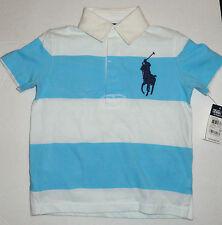 RALPH LAUREN Niños 2 años rayas azul marino marca Caballo Polo original