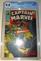 Captain Marvel #7 CGC 9.0 VF/NM 1968, Silver Age, Ronan & Quasimodo app.