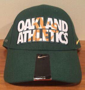 Oakland Athletics Nike Verbiage Logo Flex Cap Hat Unisex Baseball M/L