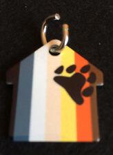 Rainbow Gay/Lesbian Bear Paw Pride Flag 2-Sided PET ID TAG ~FREE SHIPPING