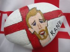 England Harry Kane pebble art - hand painted stone, ornament, paperweight