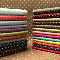 Polka Dot Fabric 1 METRE 112cm wide - 3mm Spots 100% Cotton Spotty Shabby Chic.