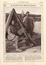 1917 FRENCH Field-opérateur téléphonique Portable Shelter Navy rations en mer de farine