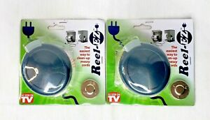 2 Reel-EZ Automatic Cord Organizer Appliances Electronics load w/ Extension Cord