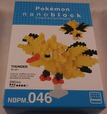 Kawada Nanoblock Pokemon Thunder - Japan building toy Nbpm_046 Ltd Worldwide
