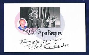 BOB EUBANKS HAND SIGN AUTOGRAPH 3x5 PHOTO THE BEATLES JOHN LENNON