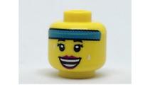 LEGO Yellow Minifig, Head Female with Dark Azure Headband