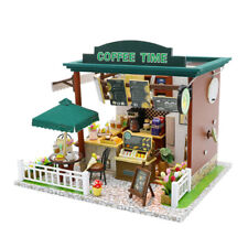 Dollhouse Kit DIY Miniature Wooden Handmade House Furnished Coffee Shop Gifts UK
