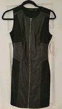 NWT Sexy Black Leather Dress Medium Zip Down BRAND NEW