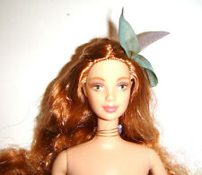 Nude Barbie Long Curly Redhead Barbie Doll For Ooak bn00