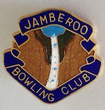 Jamberoo Bowling Club Badge Waterfall Design Rare Vintage (M1)