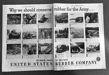 War Production from U.S. Rubber Company 1941   WWII Ad, original