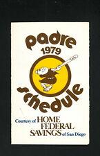 San Diego Padres--1979 Pocket Schedule--Home Federal Savings