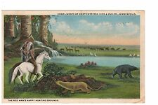 Advertising postcard Indian's Compliments of Northwestern Hide & Fur Co.,