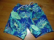 Euc Baby Gap Swim Trunks Sz 5T Boys Blue & Green with Blue Gecko