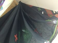 Cotton Sari Indian Bollywood Casual Ladies Dress Material Saree Black Bed Spread