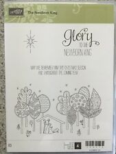 """THE NEWBORN KING"" Stampin'UP! NEW~clear/CLING unmounted~set/4~Christmas~Jesus"
