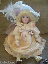 """Barb Corning Addie 19"""" All Porcelain Fully Jointed Victorian Mohair Doll @cLoseT"""