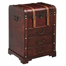 Premier Housewares Cabinet With Drawers Burgundy