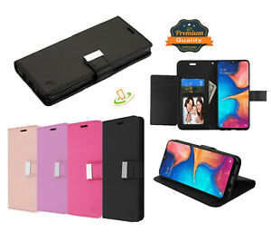 For Motorola Moto G6 PLAY FORGE E5 Wallet Case Leather Flip 5 Card Pouch Cover
