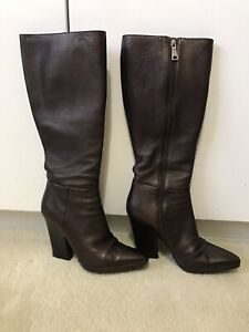 PRADA Women's Boots Bronze/Brown Colour Size 38 1/2 RRP $1,000