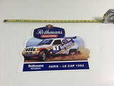 AUTOCOLLANT VINTAGE CAR PARIS LE CAP 1992 MITSUBISHI ROTHMANS MICHELIN
