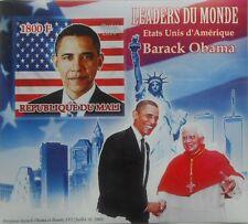President Barack Obama & Pope Benedict XVI  Mali 2010 s/s Imperf MNH  #P024