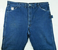 VTG Pointer Brand USA Carpenter Blue Jeans Mens 44 x 32 Dark Wash Work Denim