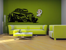 Wall Vinyl Sticker Room Decals Mural Design Old Retro Car Vehicle Auto  bo1591